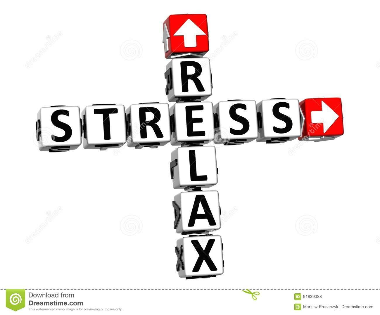 3d Relax Stress Crossword Royalty Free Stock Image