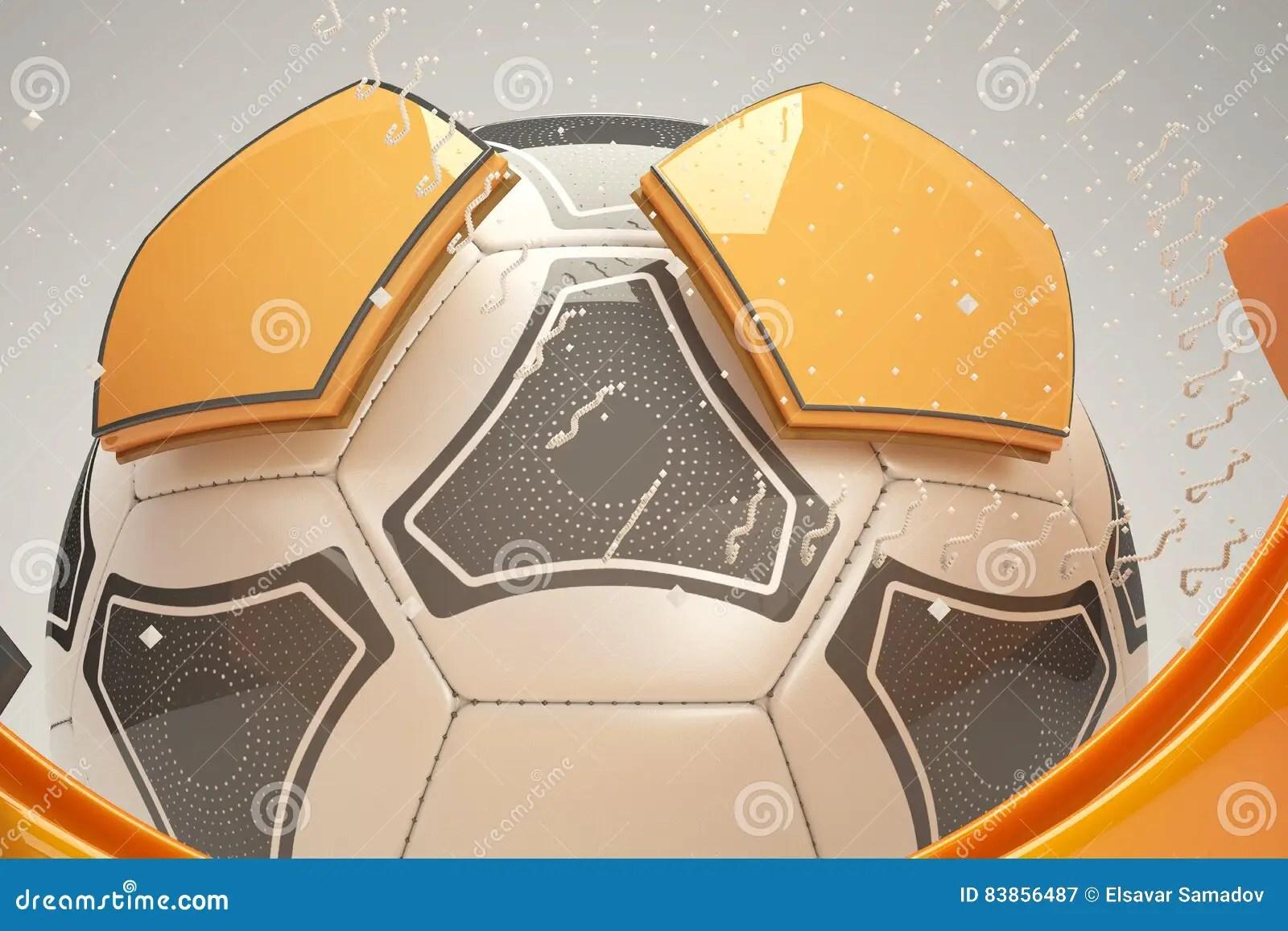 3d Soccer Ball Design Stock Illustration Illustration Of