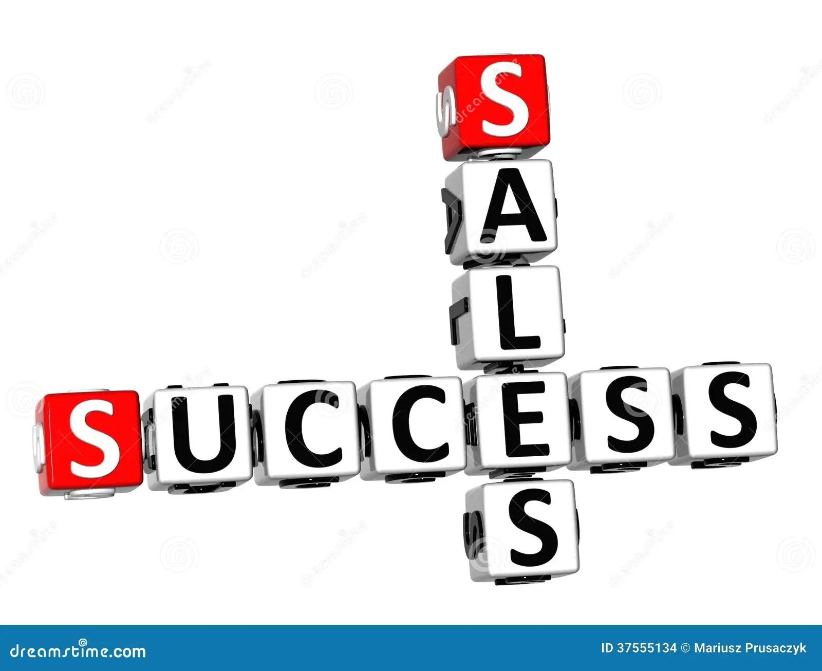 3d Success Sales Crossword Stock Images