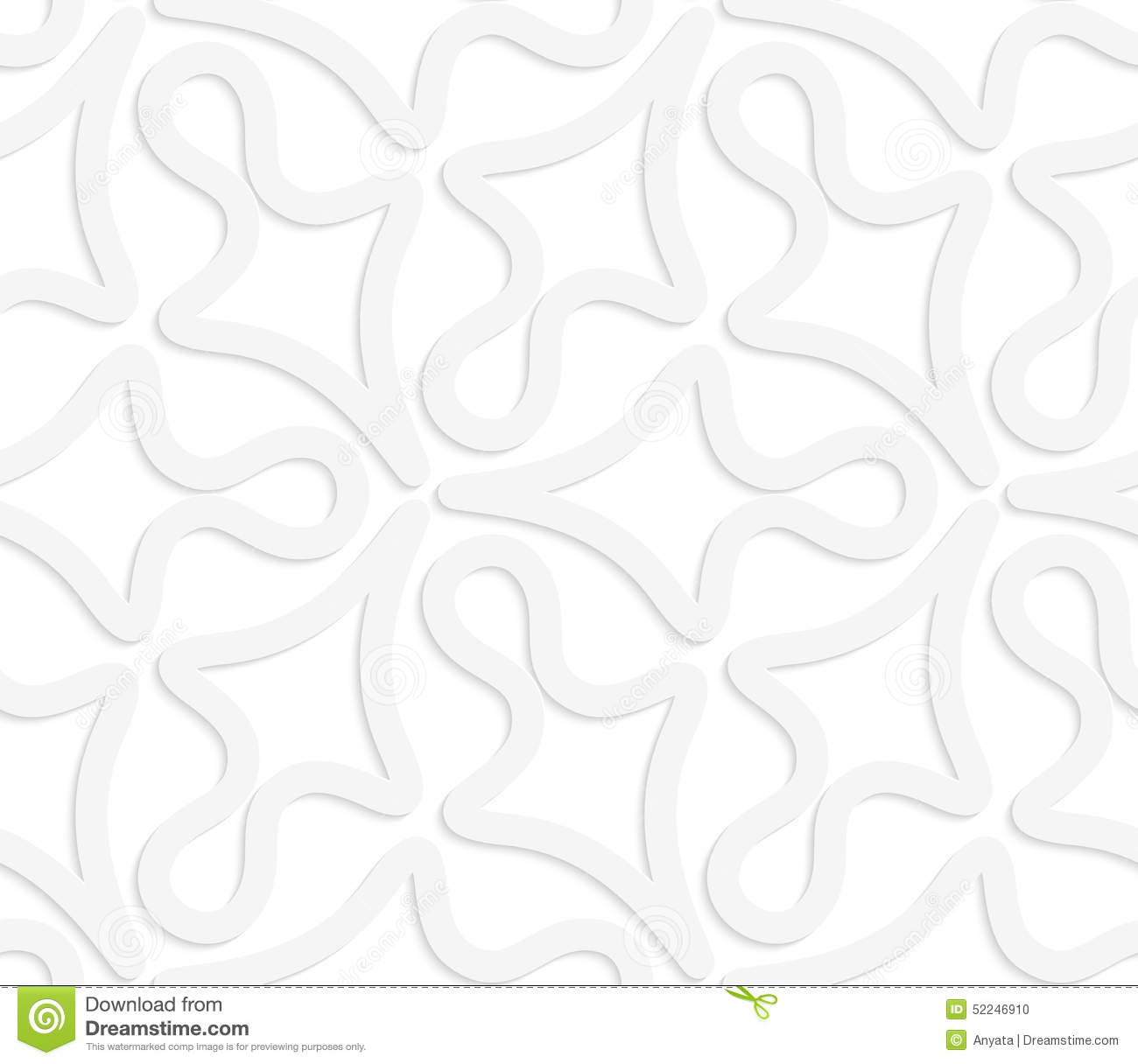 3d White Abstract Geometrical Clubs Stock Vector