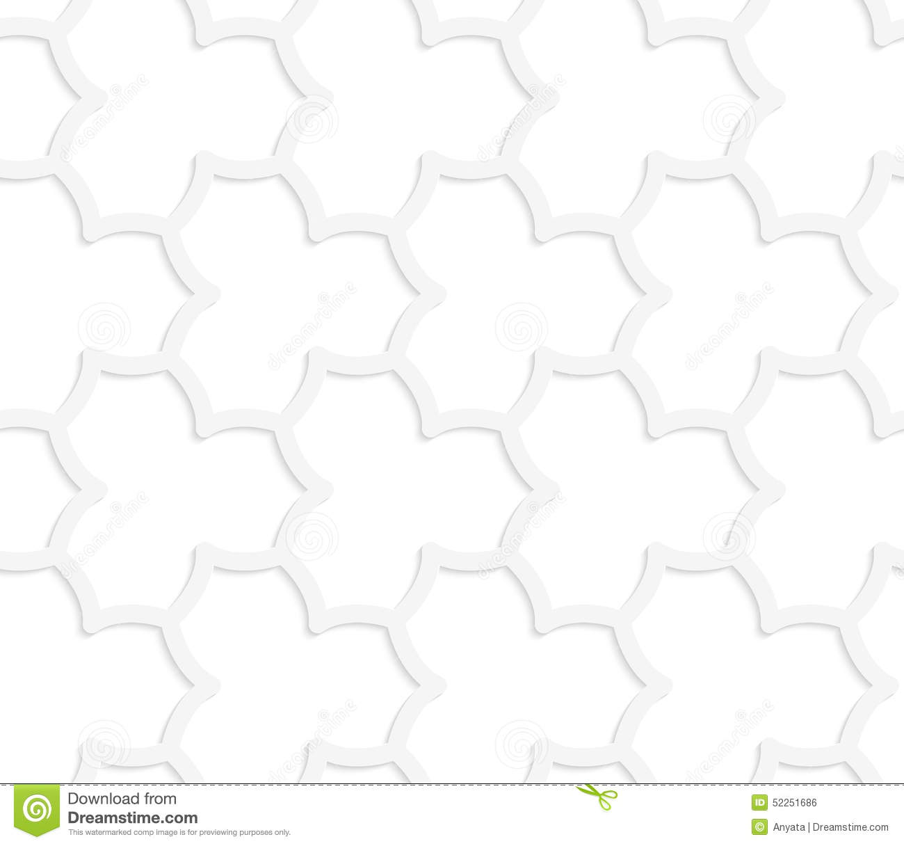 3d White Abstract Geometrical Pointy Flower Grid Stock