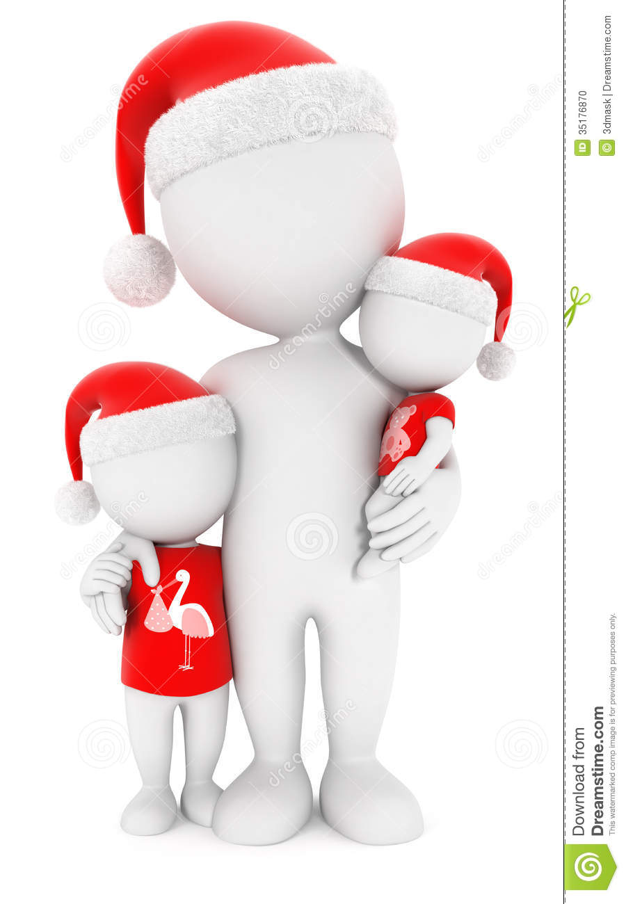 3d White People Family Christmas Stock Photo Image 35176870