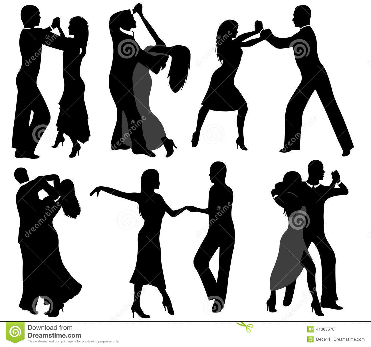 1970s Dancer Silhouettes