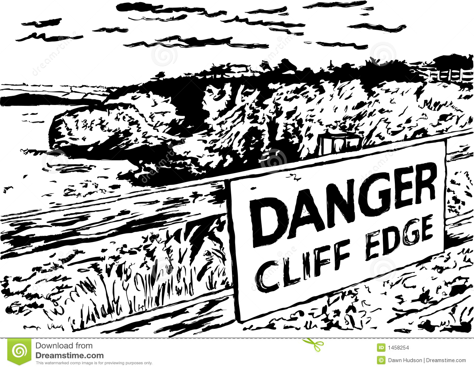 Danger Cliff Edge Stock Images