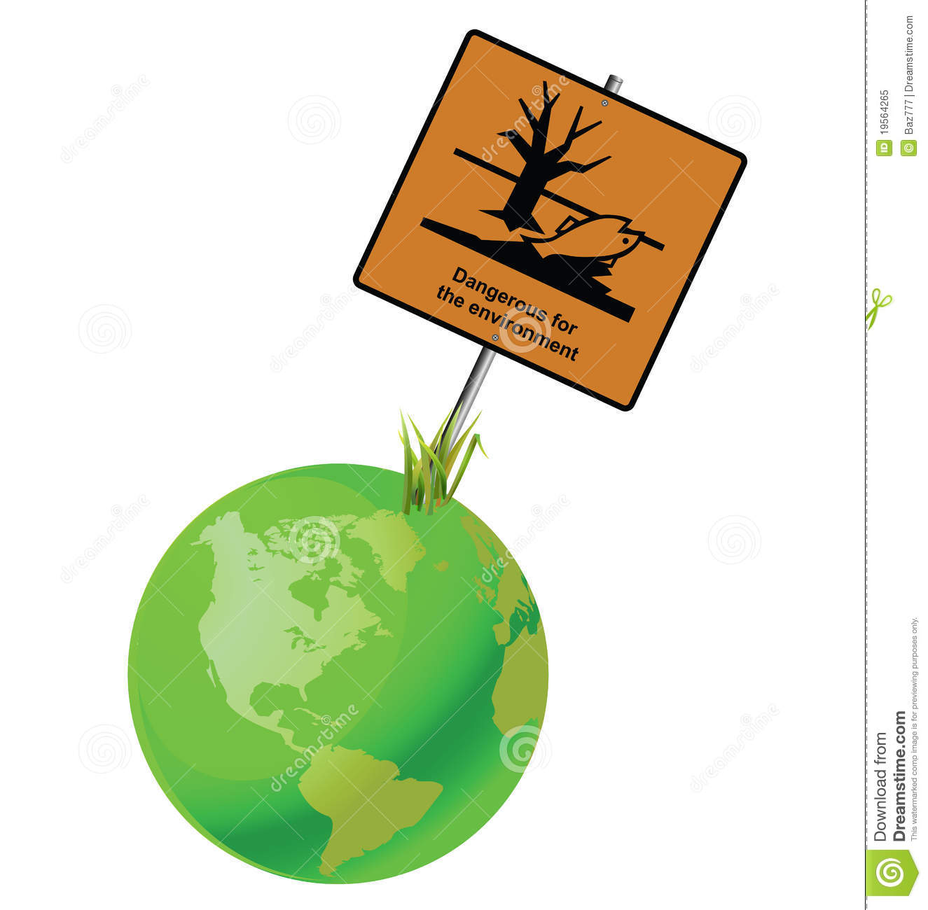 Dangerous To The Environment Sign Royalty Free Stock Photo