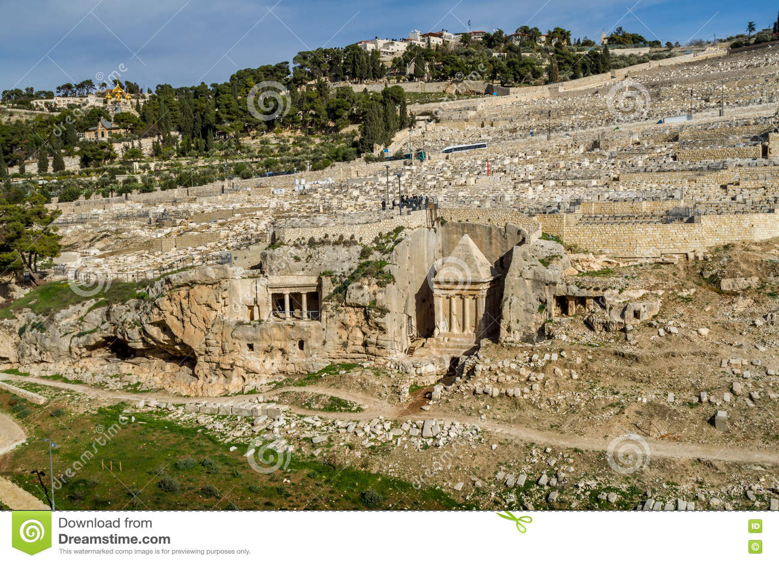 Das Kidrontal Jerusalem Stockbild Bild Von David