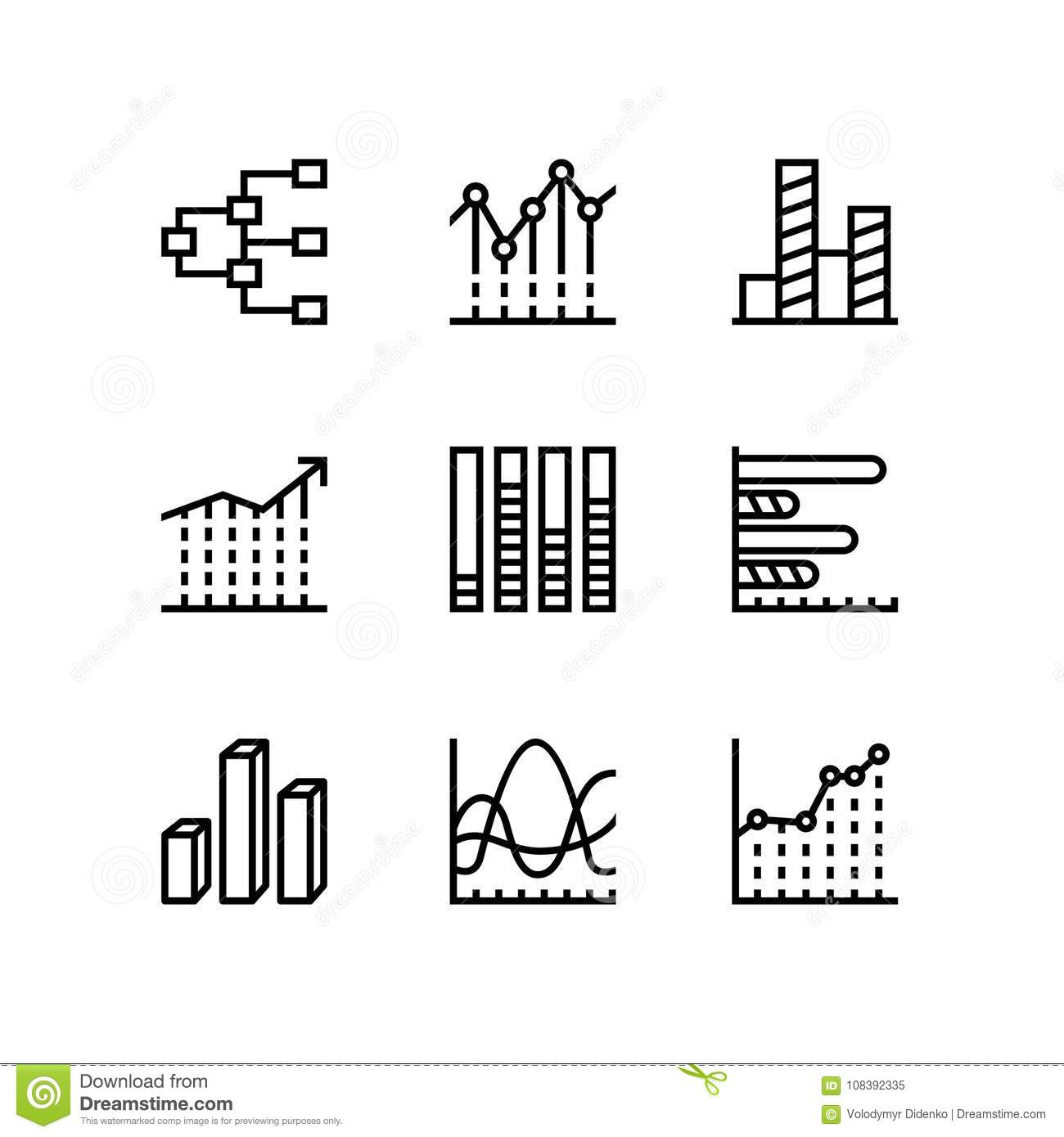 Dataysis Chart Diagram Vector Simple Icons For Web