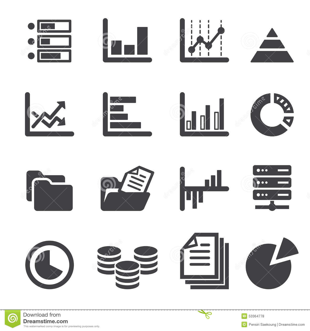 Data Icon Set Stock Vector Image Of File Black Line