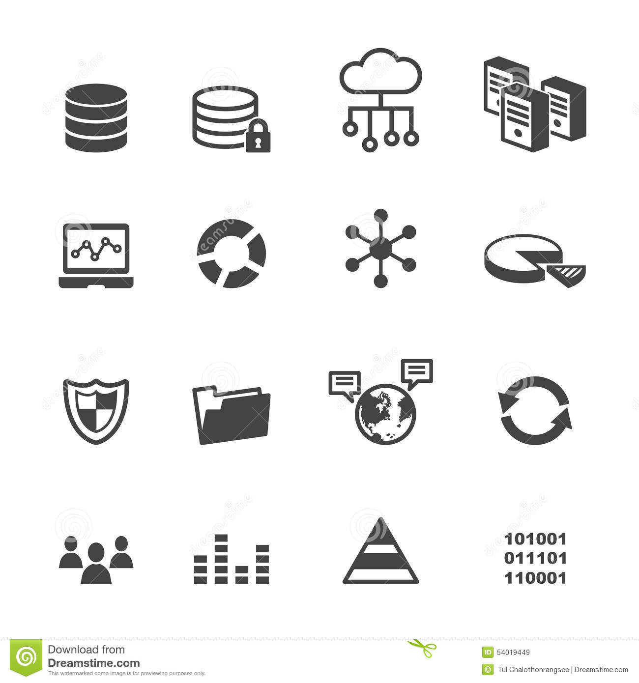 Data Icons Stock Vector Illustration Of Illustration