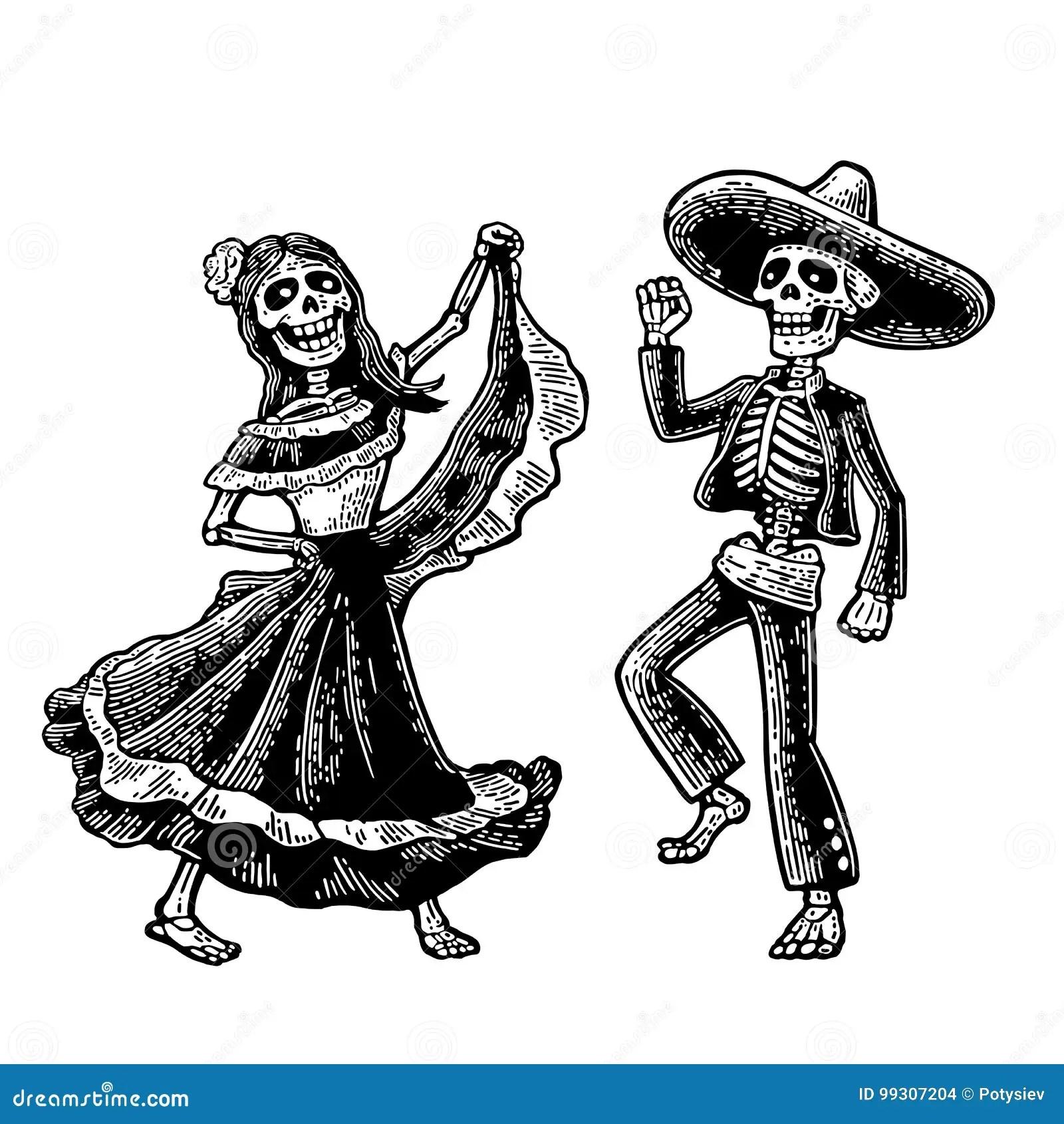 Day Of The Dead Dia De Los Muertos The Skeleton In The