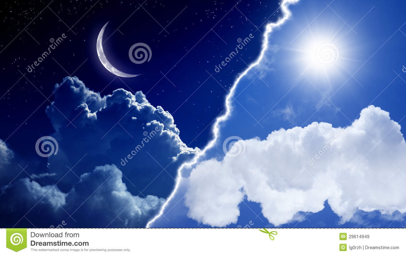 Day And Night Stock Image Image Of Beautiful Opposite