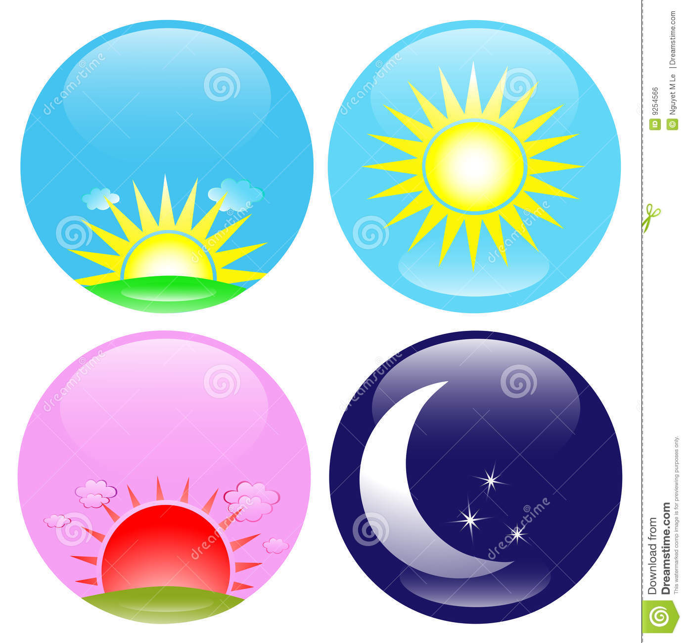 Day And Night Icons Set Royalty Free Stock Image