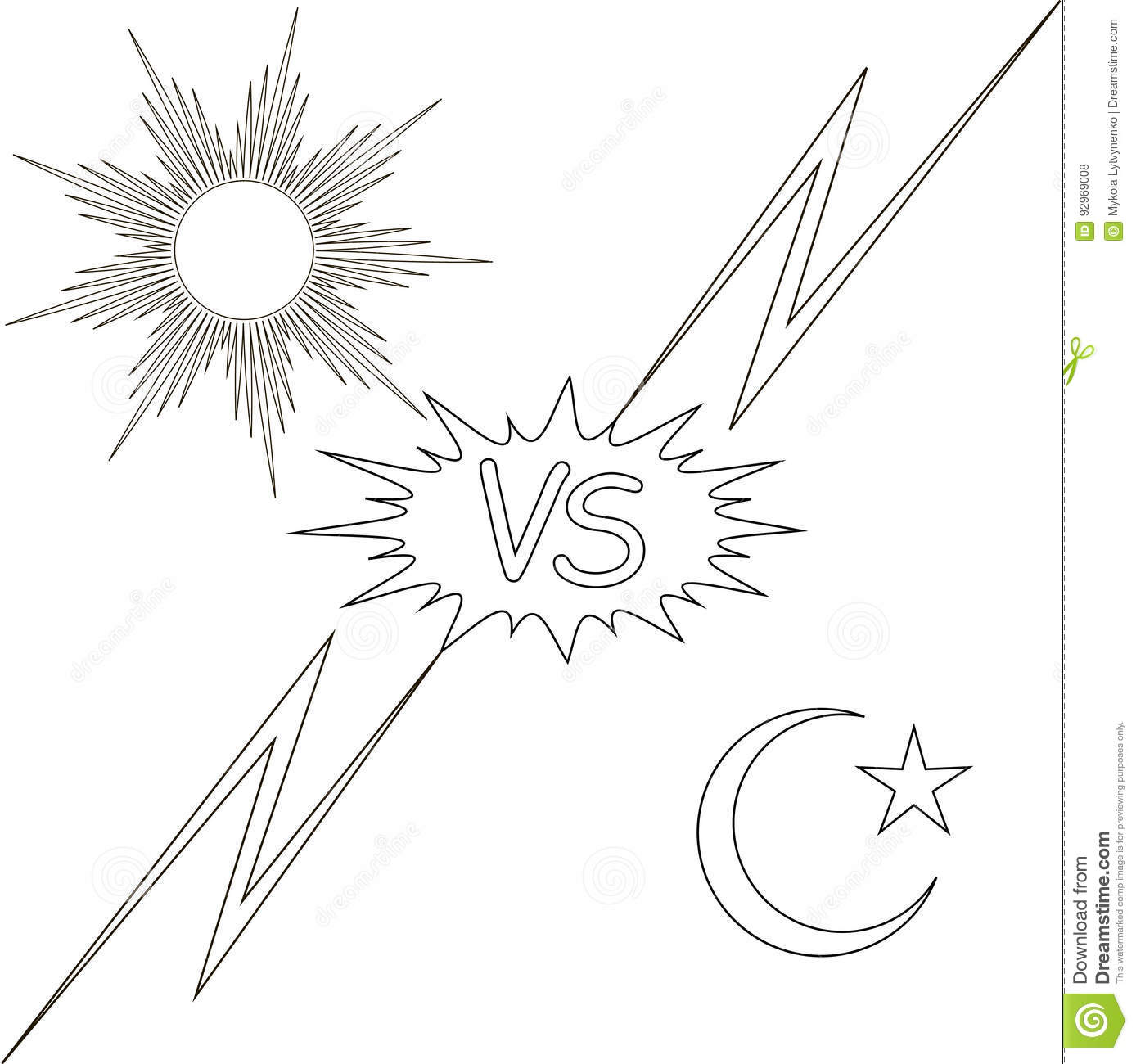 Good Versus Evil Royalty Free Stock Photography