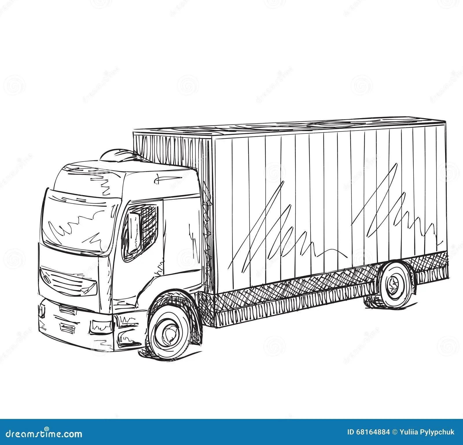 Denst Van De Levering Hand Getrokken Vrachtwagen