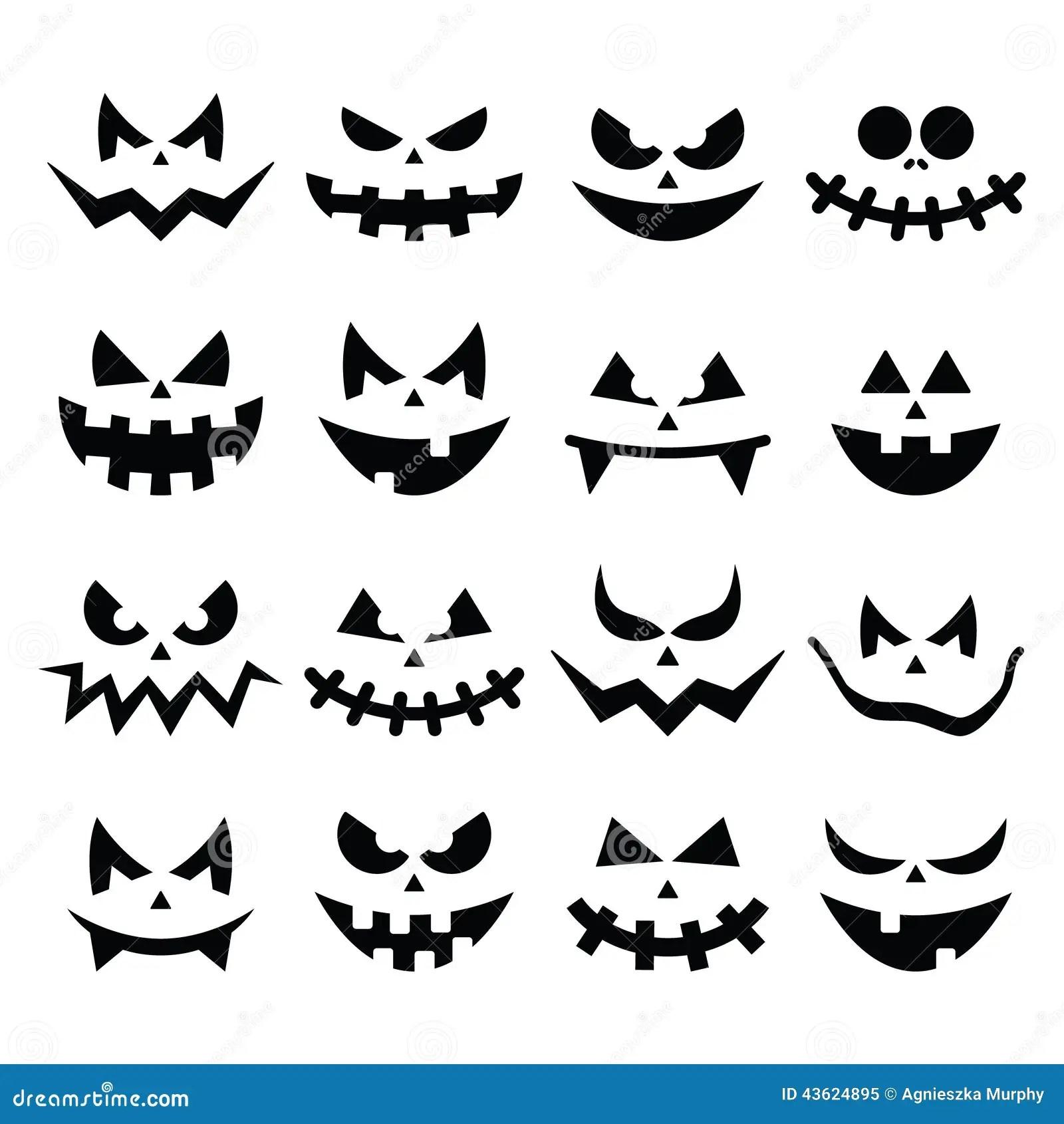 De Enge Halloween Geplaatste Pictogrammen Van
