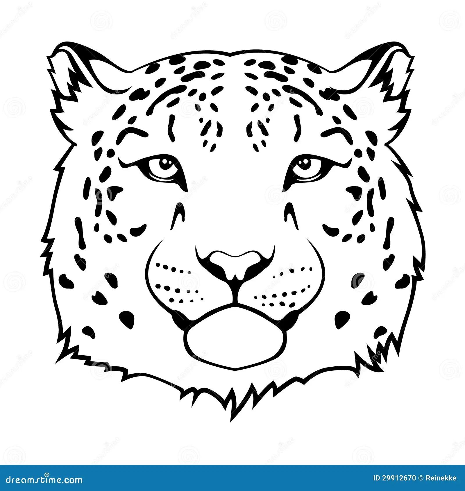 Het Hoofd Van Jaguar Vector Illustratie Illustratie