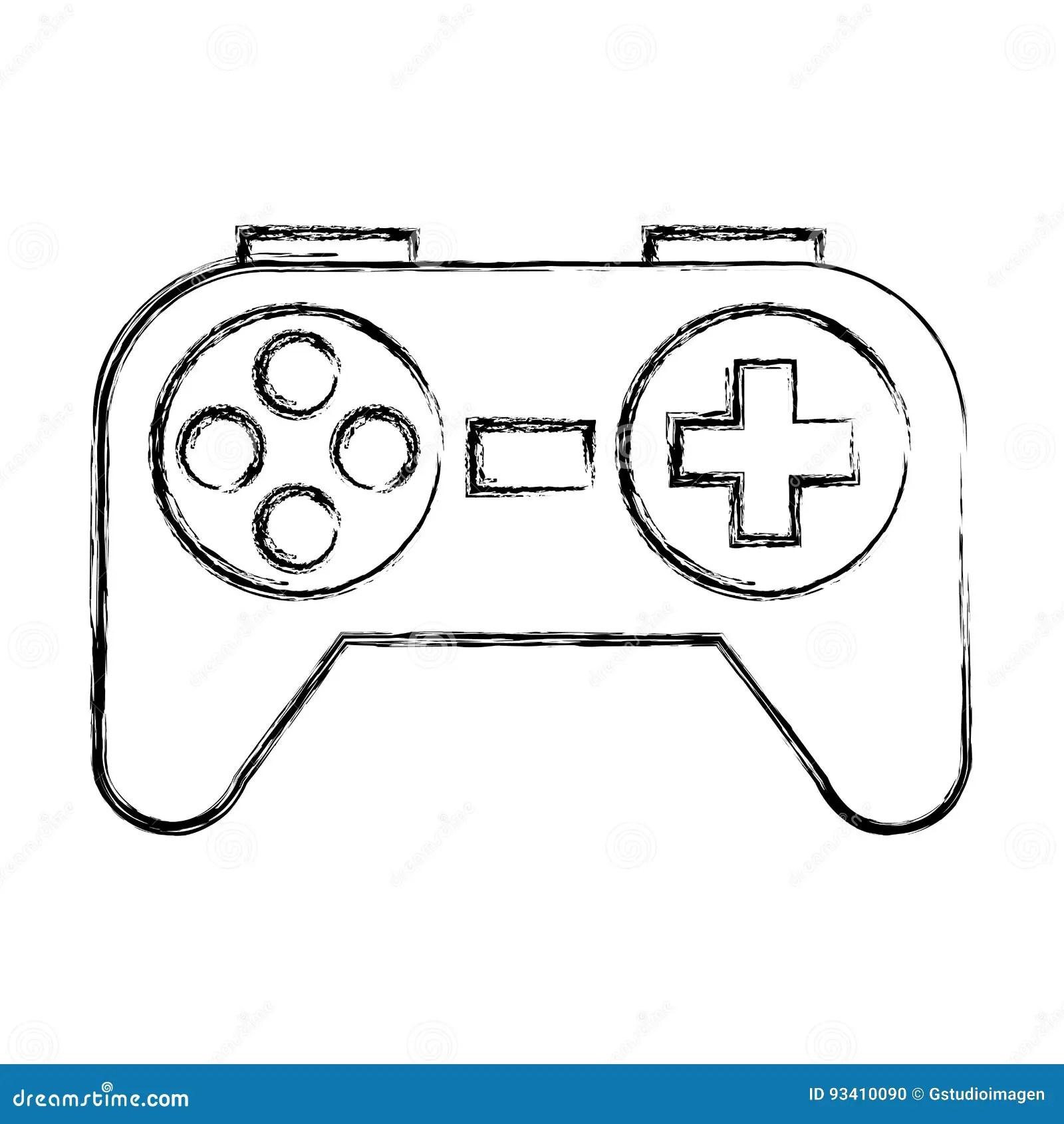De Schets Trekt Controlespel Vector Illustratie