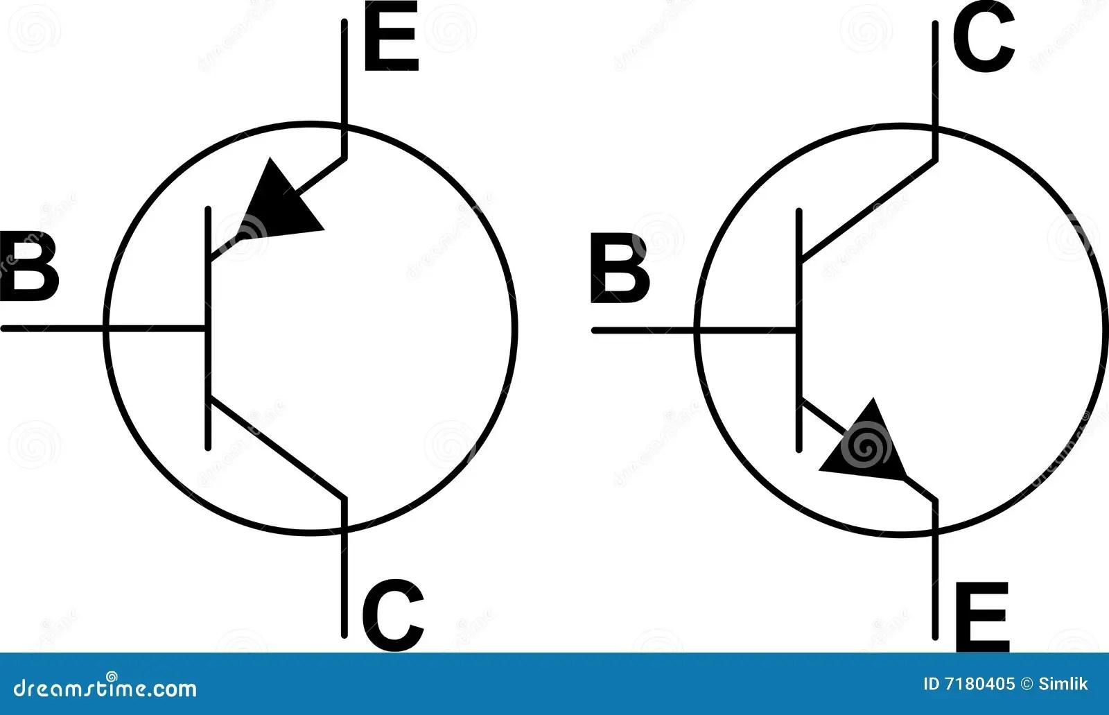 De Symbolen Pnp Van De Transistor Npn Vector Illustratie