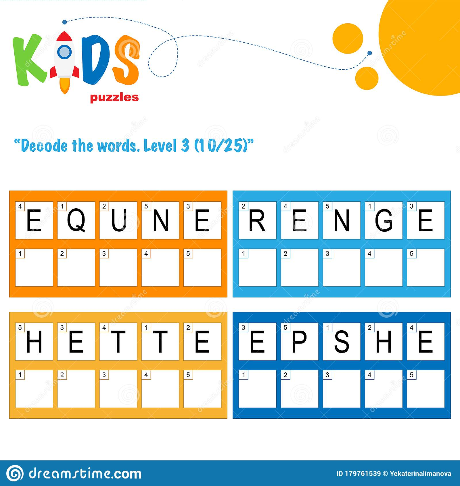 Decode The 5 Letter Words Fun Logic Puzzle Activity Sheet