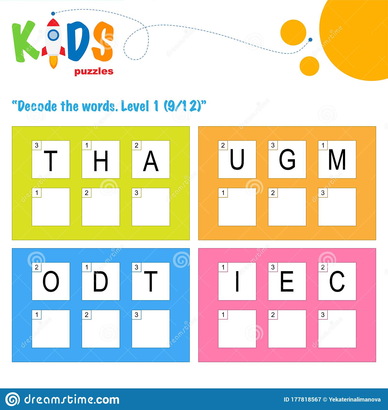 Decode The 3 Letter Words Logic Puzzle Activity Sheet