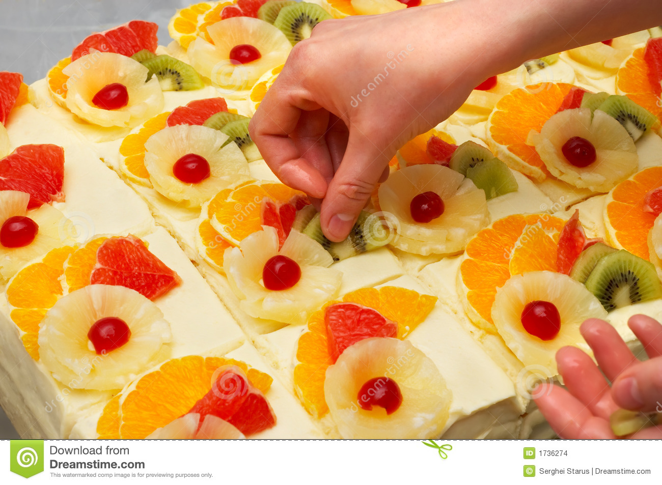 Decorating The Fruit Cakes Stock Photo Image Of Meal