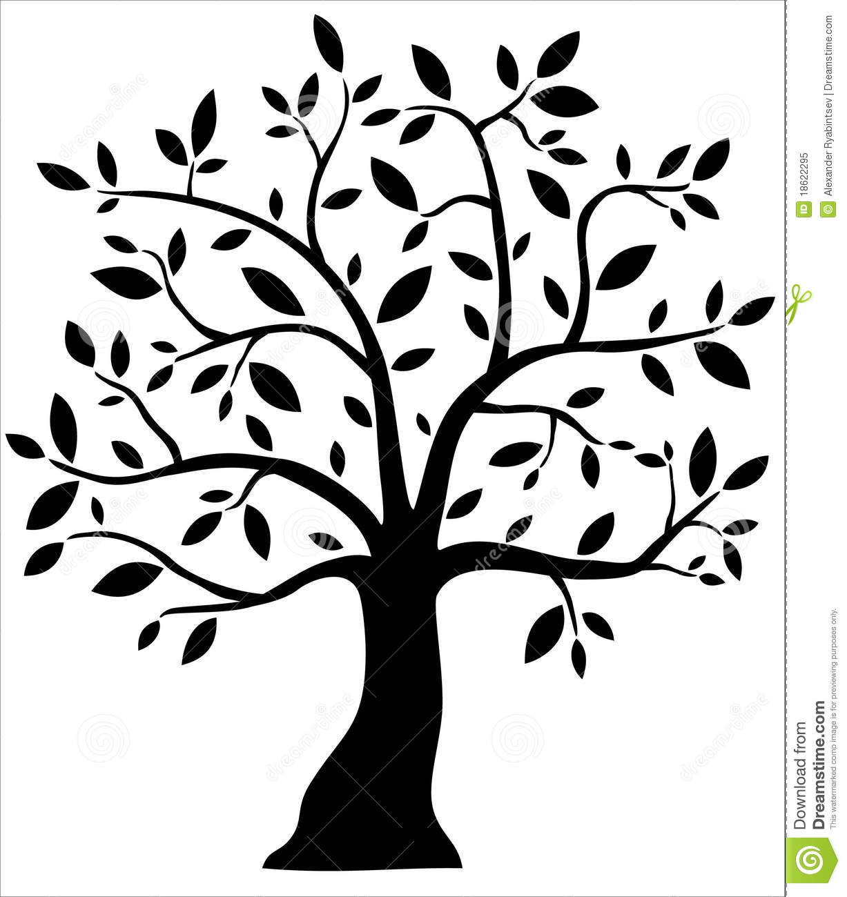 Decorative Black Tree Stock Illustration Illustration Of