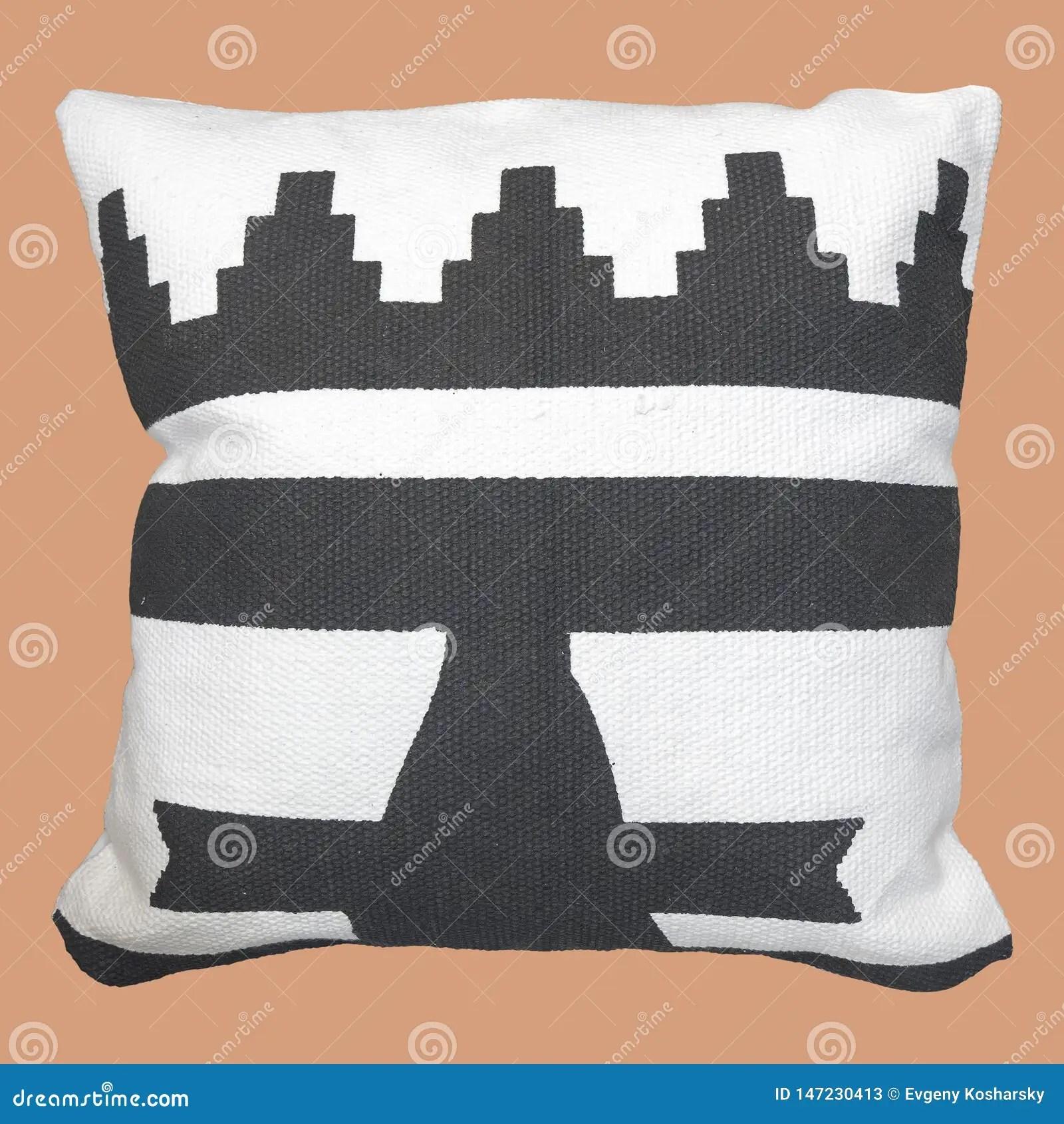 Decorative Cushion Geometric Pattern Stock Image