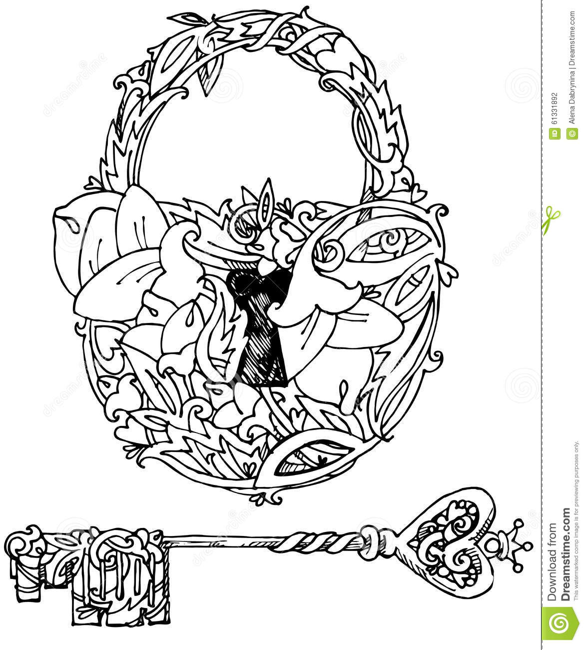 Decorative Key Stock Illustrations 8 924 Decorative Key