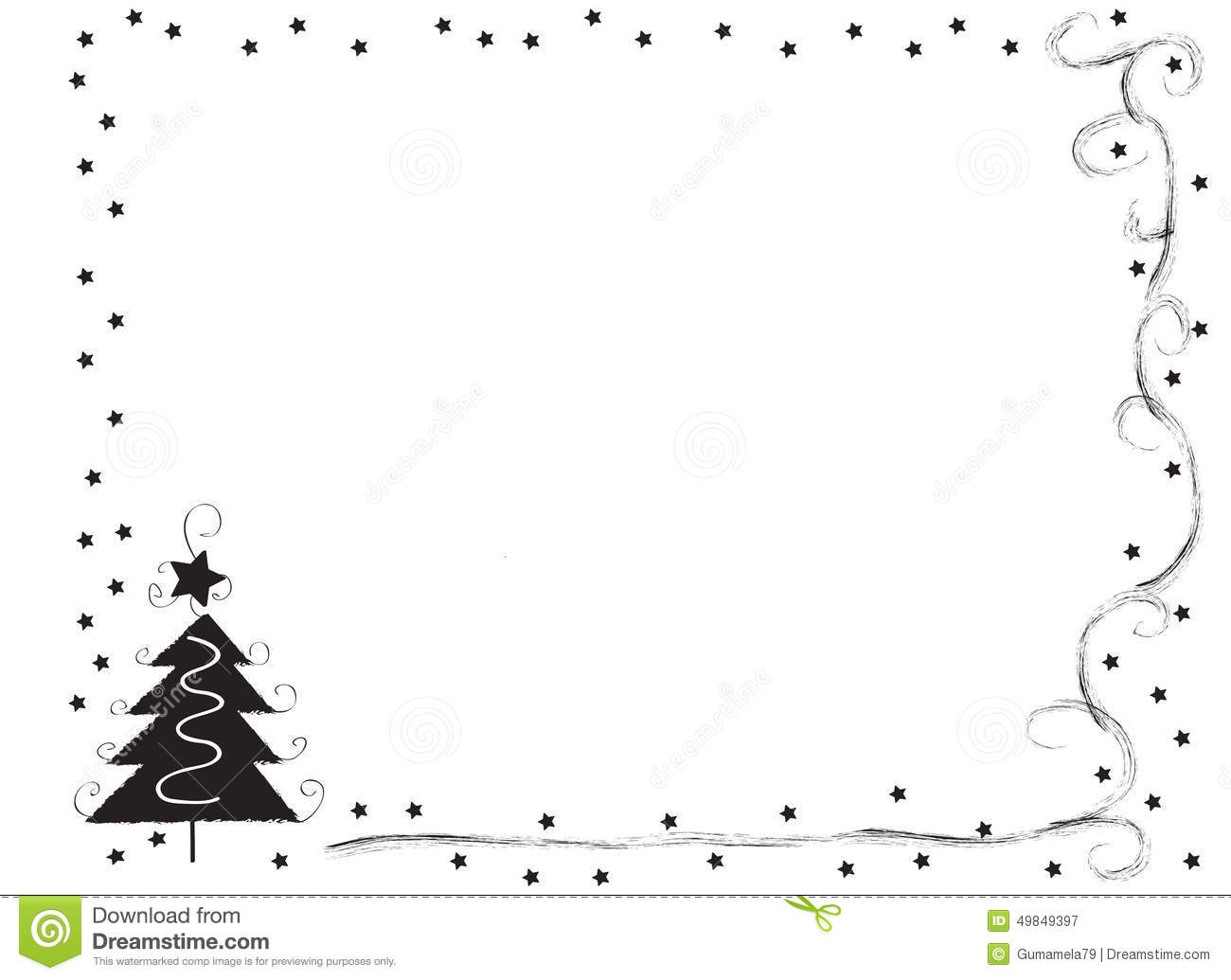Christmas Frames Clip And And Art White Black Borders