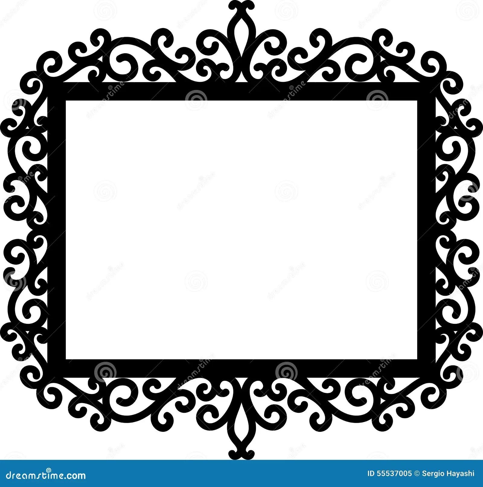 Decorative Frame Silhouette Stock Vector