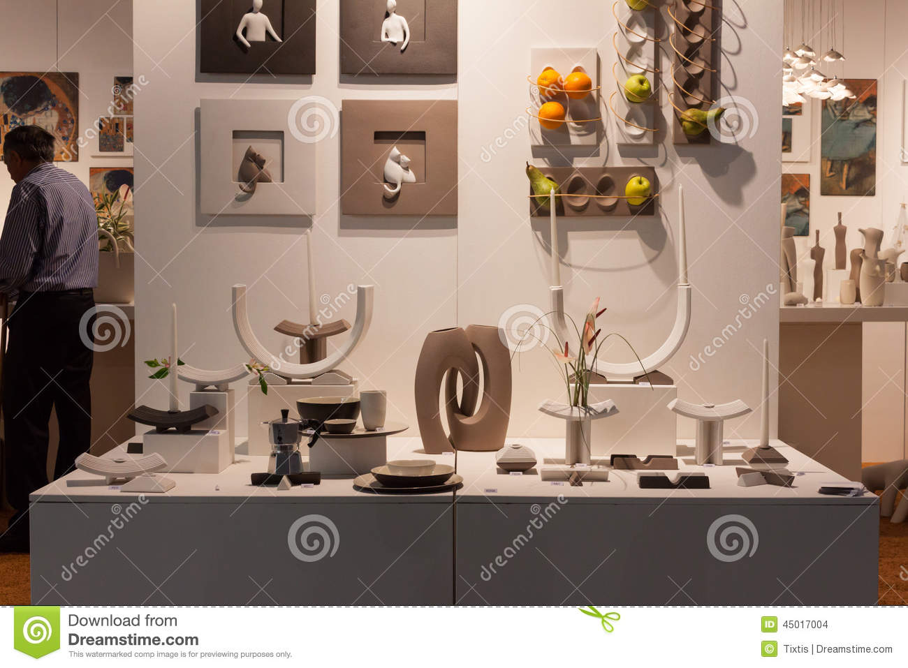 Decorative Objects On Display At HOMI  Home International Show In     MILAN  ITALY   SEPTEMBER 13  Decorative objects on display at HOMI  home  international show and point of reference for all those in the sector of  interior