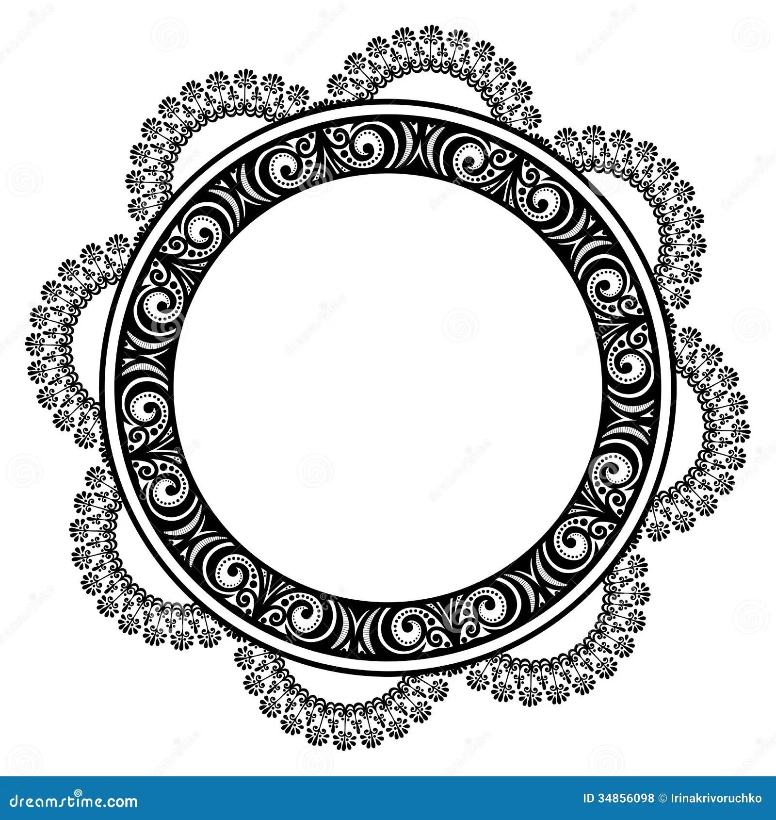 Decorative Round Frame Royalty Free Stock Photos