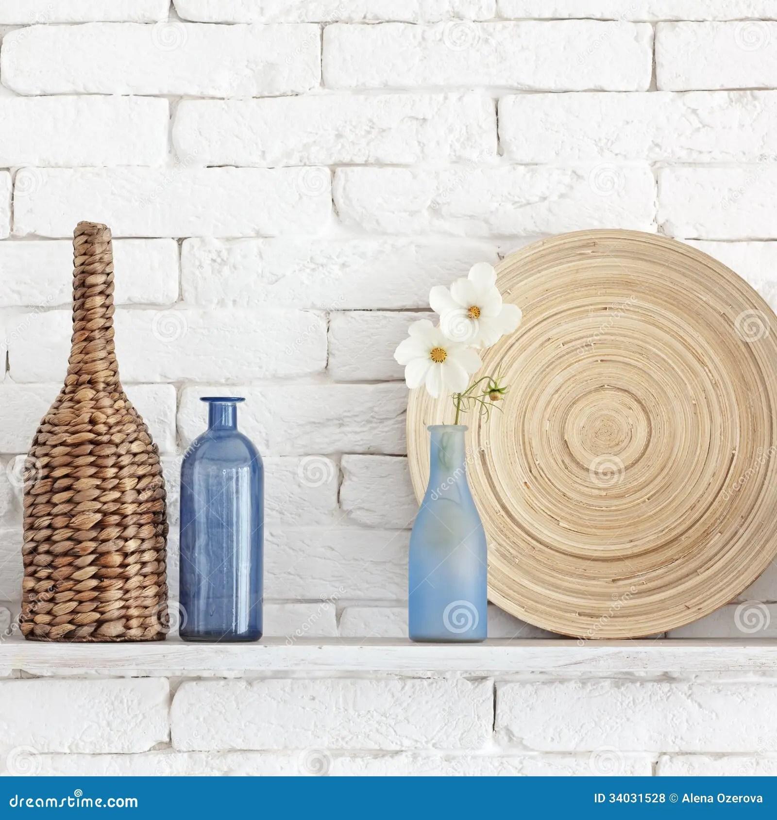 Decorative Shelf Stock Photo Image Of Background Contemporary 34031528