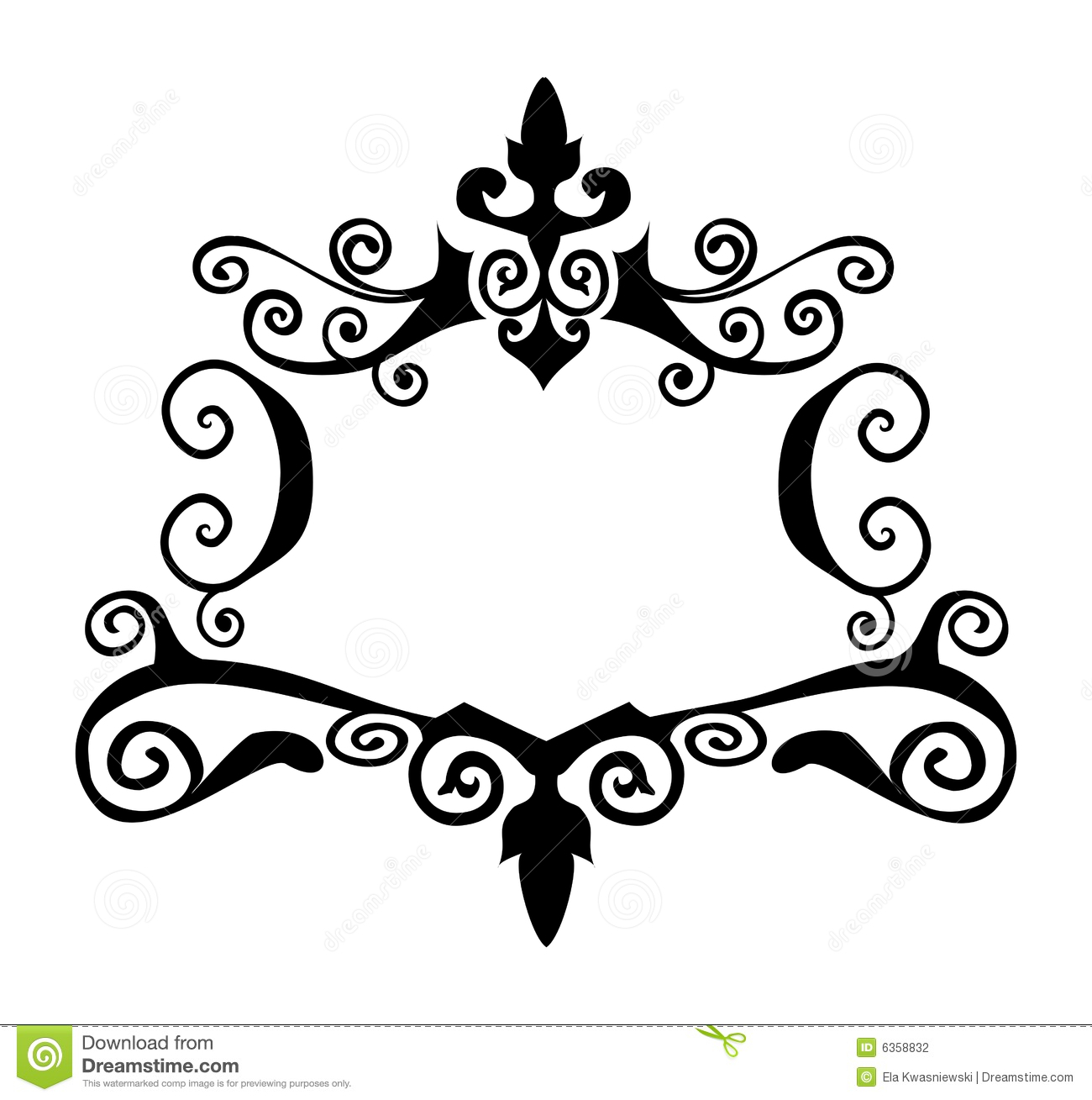 Decorative Vector Frame Stock Vector Illustration Of