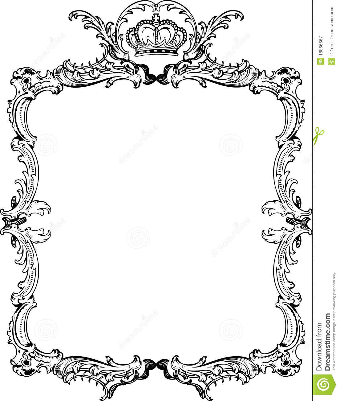 Decorative Vintage Ornate Frame Stock Vector