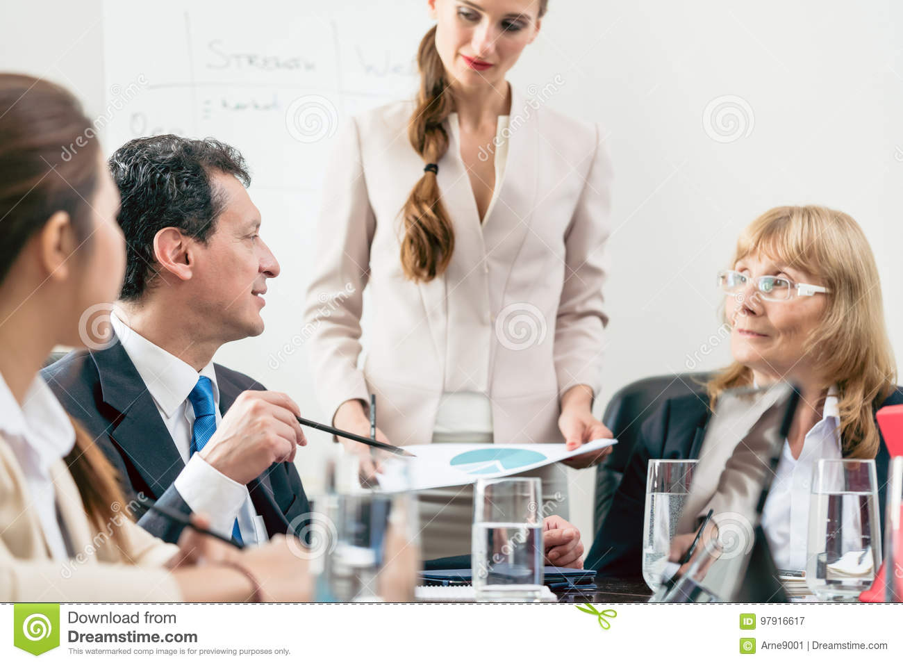 Dedicated Manager Sharing His Opinion While Interpreting A