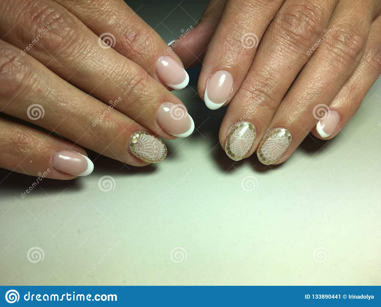Delicate French Manicure Stock Image Image Of Female 133890441
