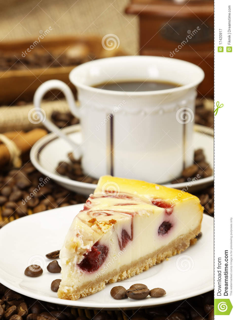 Delicious Piece Of Cake And Coffee Royalty Free Stock