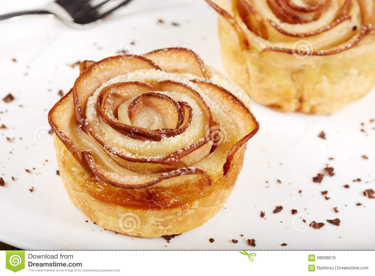 Rose Shaped Pastry Royalty Free Stock Image