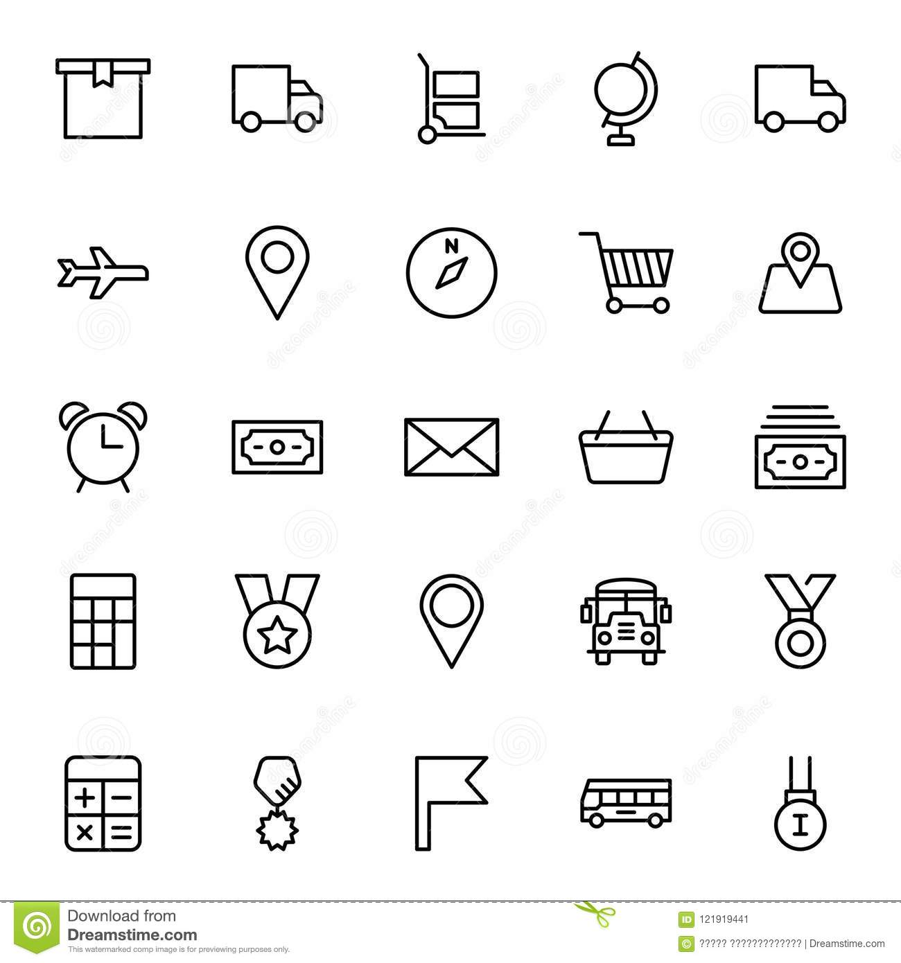 Delivery Flat Icon Stock Vector Illustration Of Delivery