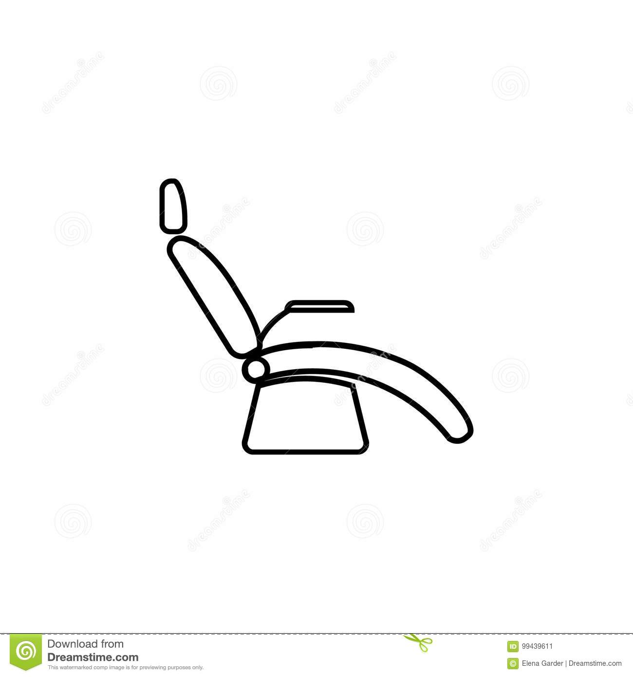 Dentist Chair Line Icon Medical Armchair Icons Figure