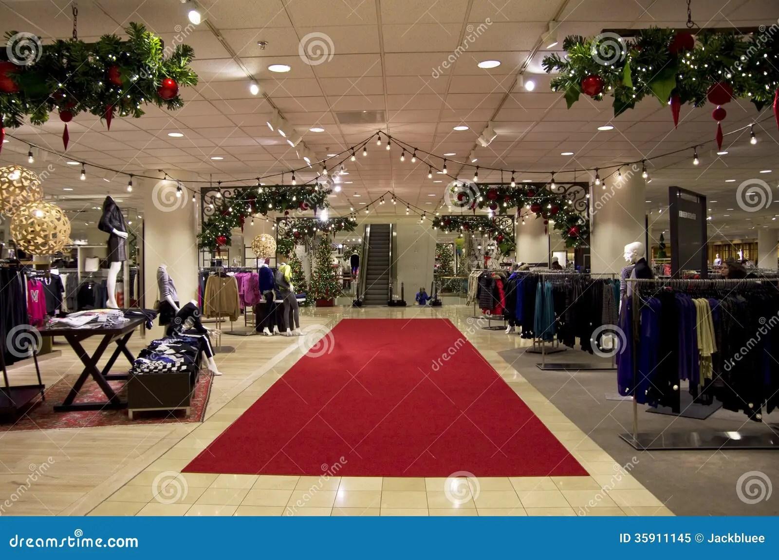 Department Store Mall Shopping Christmas Tree Ligh