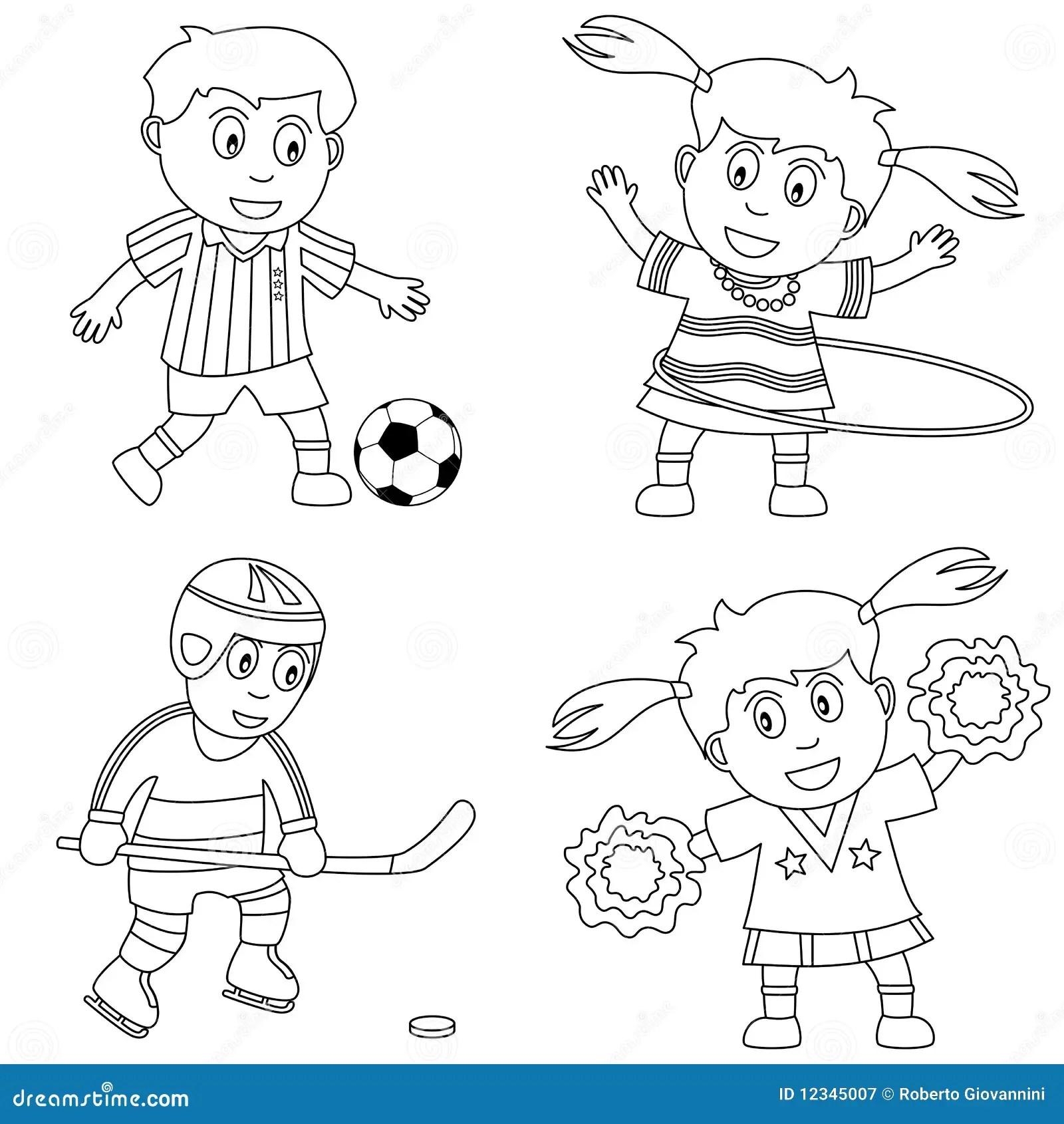 Deporte Del Colorante Para Los Cabritos 2 Ilustracion