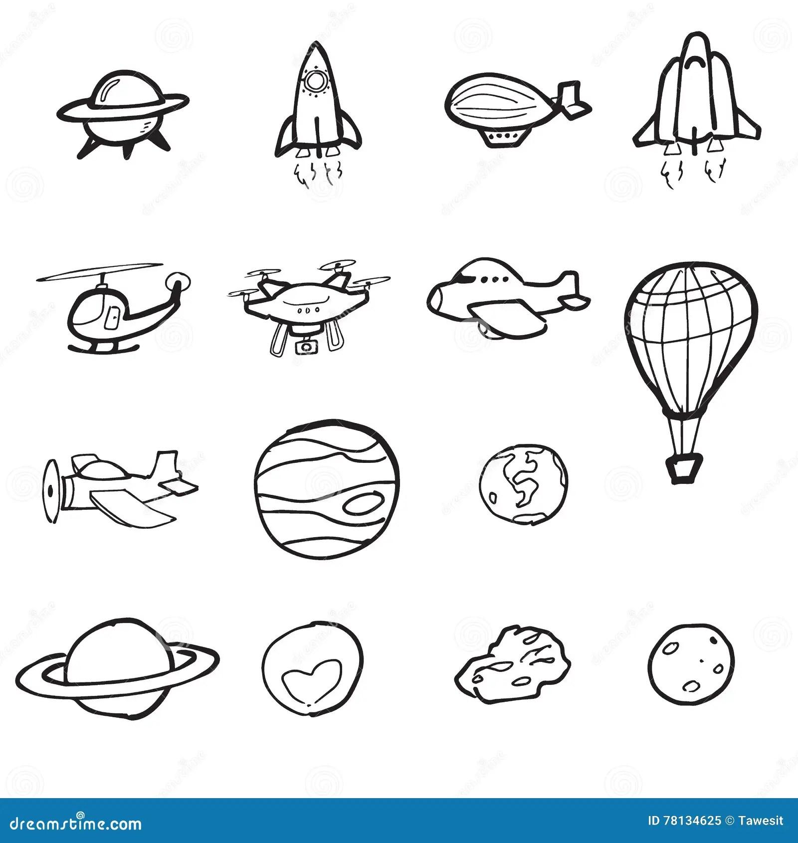 Desenho Dos Desenhos Animados Do Plano E Do Planeta Do