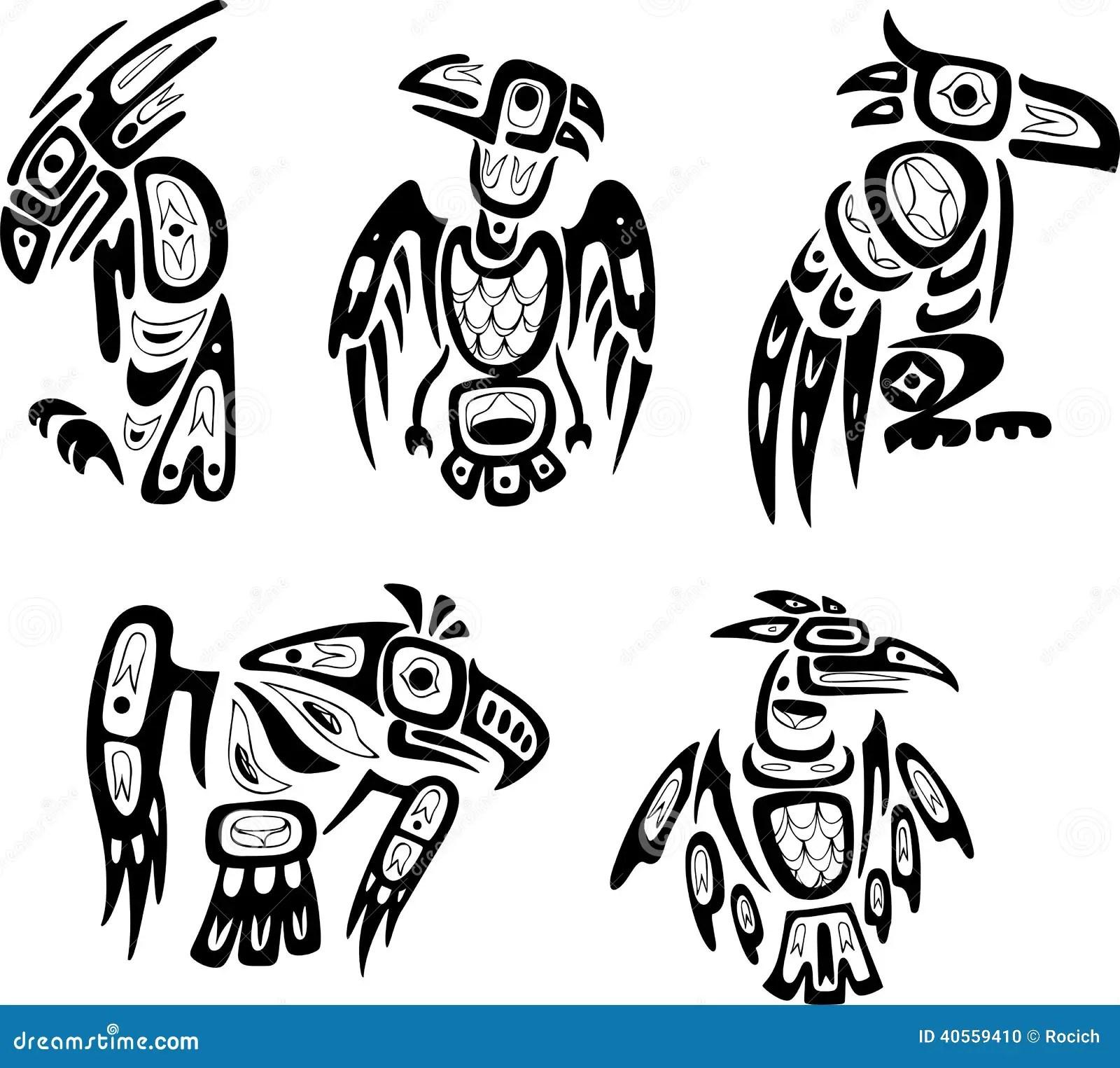 Desenhos Tribais Do Shoshone Indiano Nativo Aguias