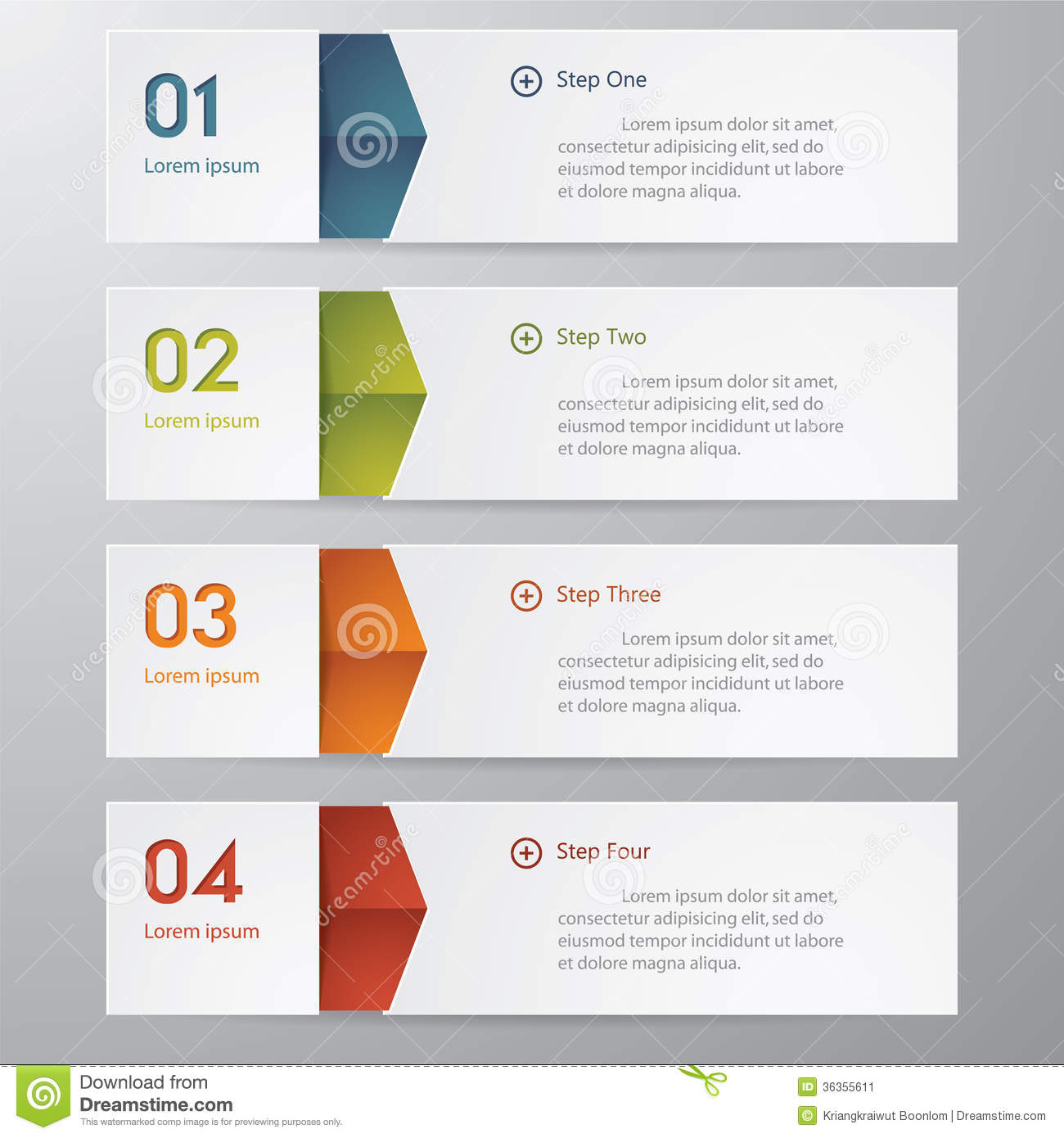 design clean number banners stock image image 36355611