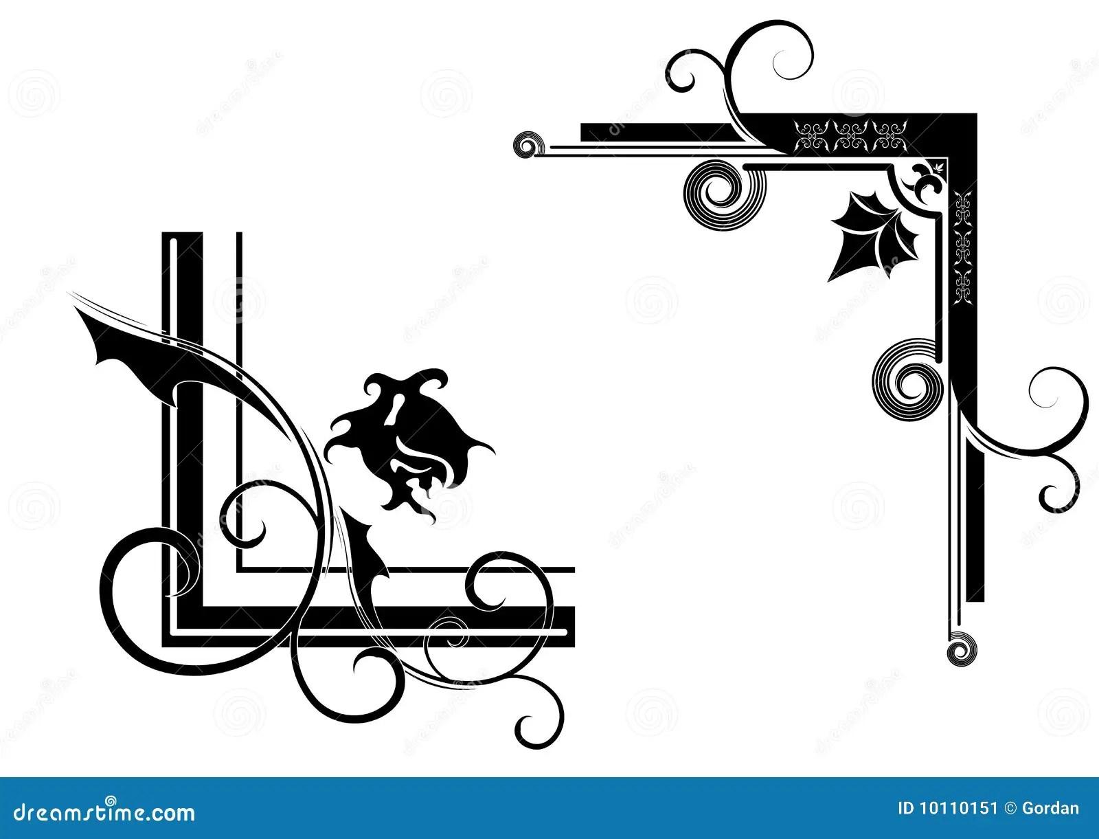 Design Corners Stock Image