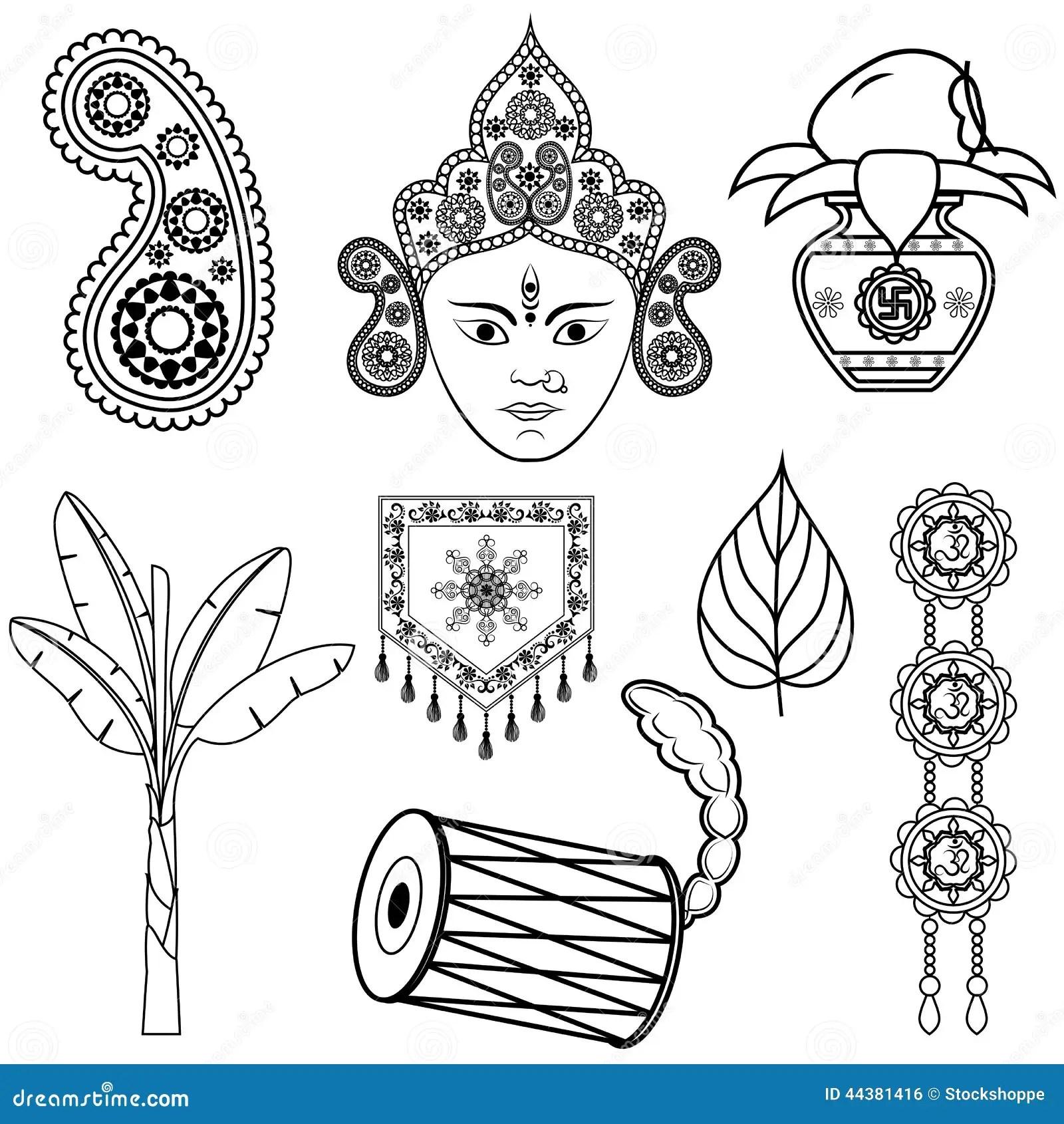 Design For Dussehra Decoration Stock Vector