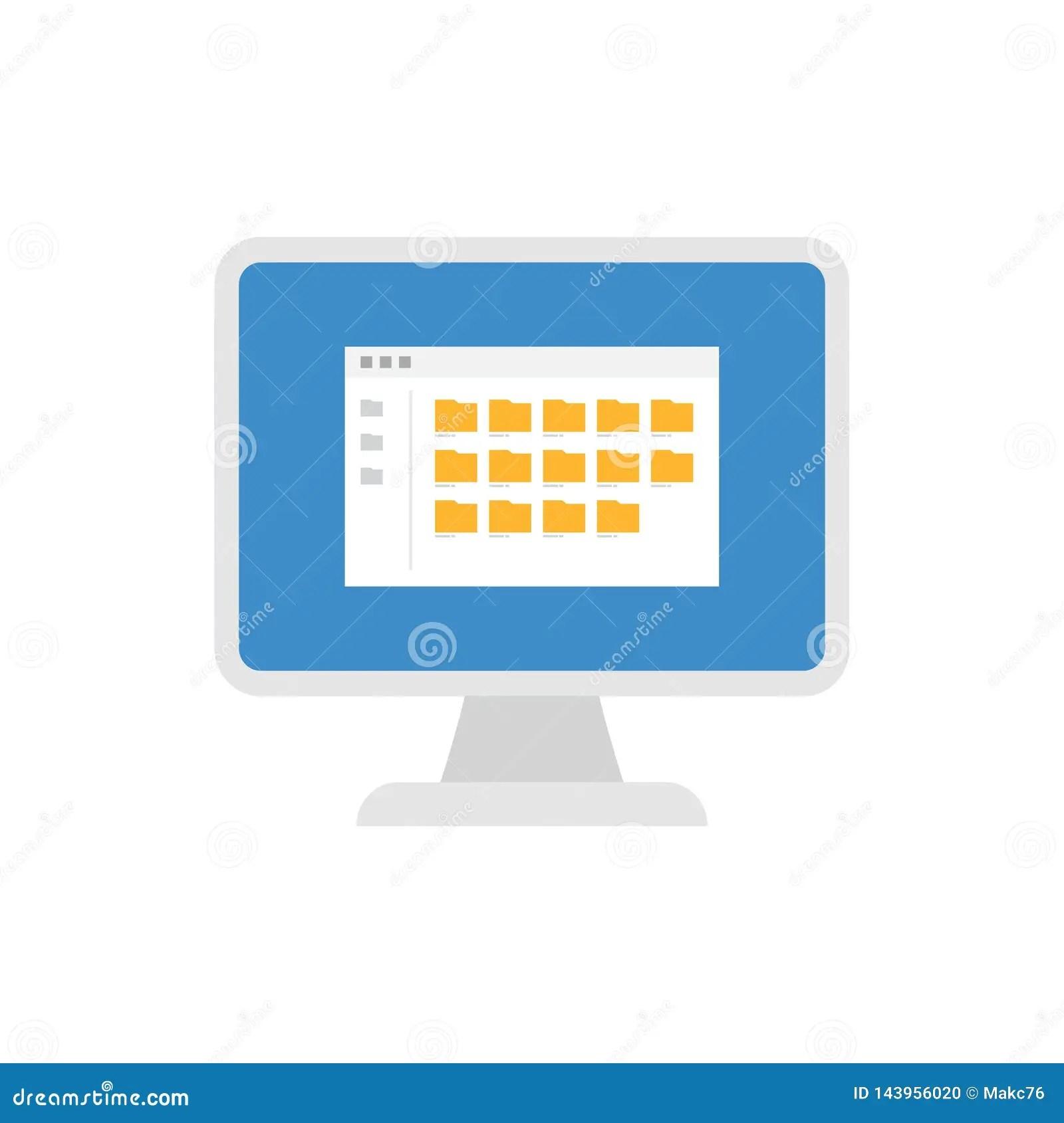 Desktop Pc Computer Monitor Keyboard Labels Mouse Vector