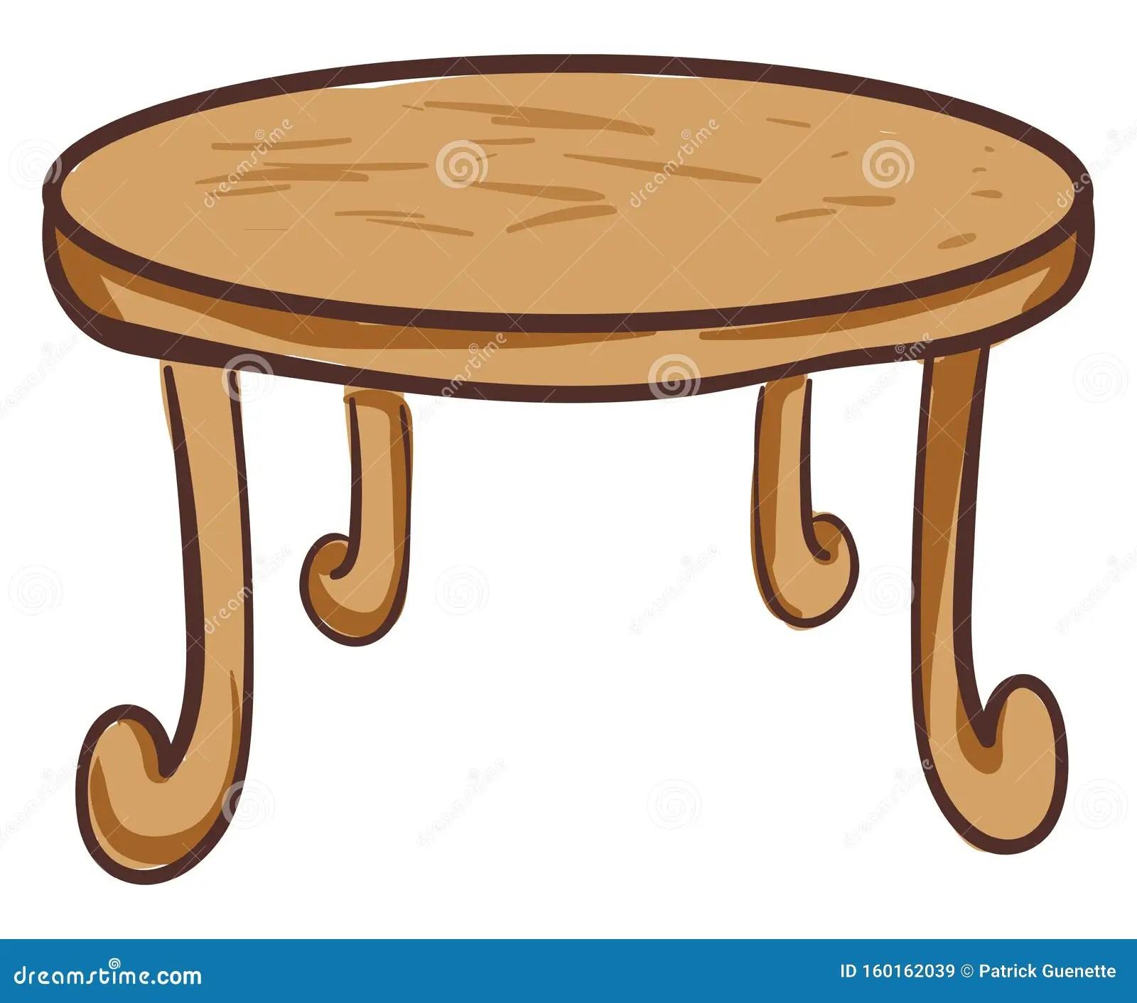 dessin de la table ronde a manger en
